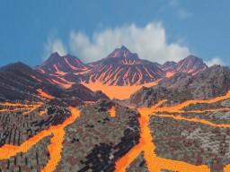 volcano wasteland Minecraft Map & Project