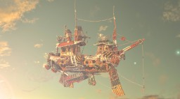 The Scrappy Scarborough - Junkyard collection ship Minecraft