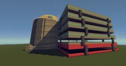 Simple Modern Parking Garage Minecraft Project