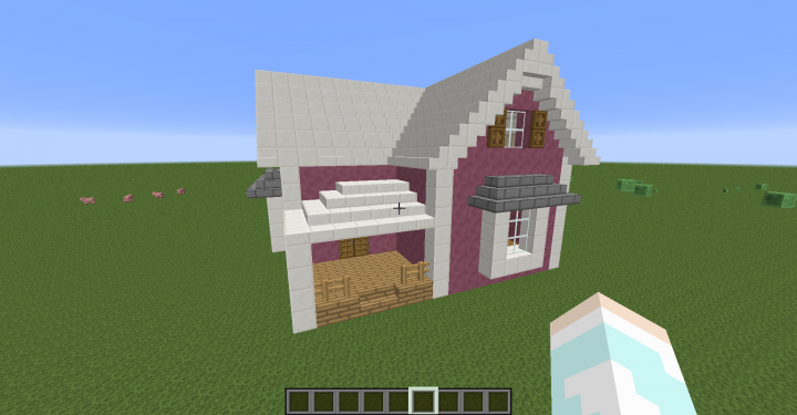 Cute pink house minecraft project for Photos of cute houses
