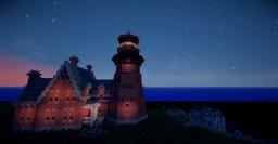 1800's Gothic Victorian-era Light Station Minecraft Map & Project