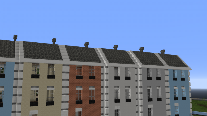 6 english seaside style terrace houses wok minecraft project for English terrace