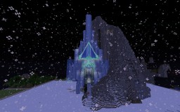 Elsa's ice palace from Disney's Frozen Minecraft