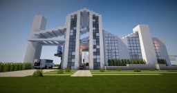 White W. A Splash of Color - Modern Home Minecraft Map & Project