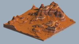 500x500 Mesa Terrain Minecraft Map & Project