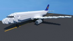 Airbus A320 -  2:1 scale Minecraft Map & Project