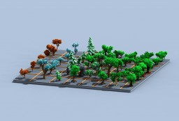 Tree bundle [Download] -56 trees- Minecraft Project