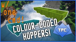 Colour-Coded Hoppers in ONE COMMAND!!! Minecraft Project