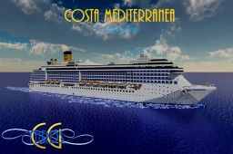 Costa Mediterranea 1:1 Scale Cruise Ship [+Download] Minecraft Map & Project