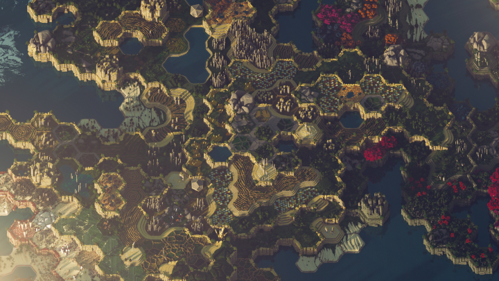 This is how Yellow fields region looks from the sky in the morning.