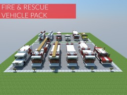Fire and Rescue Vehicle Pack Minecraft Project