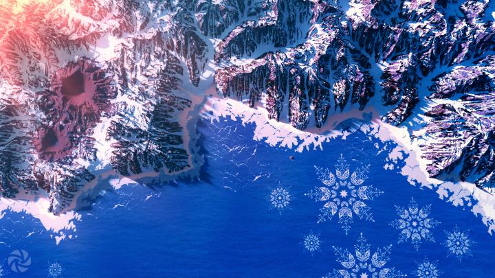 Ice snowflakes.
