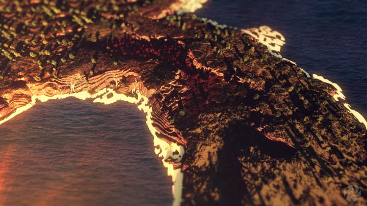 Dark forest coast.