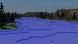 Alpine Mountains - Worldpainter Terrain Minecraft Map & Project