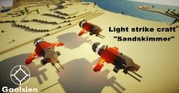 "Gaalsien Light strike craft ""Sandskimmer"" |Homeworld| Minecraft Map & Project"