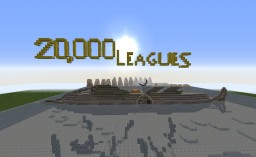 """The Nautilus / 20,000 Leagues Under The Sea """"Jules Verne"""" Minecraft Map & Project"""