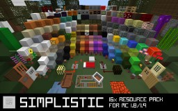 SIMPLISTIC | A Minecraft Resource Pack for 1.8/1.9 Minecraft Texture Pack