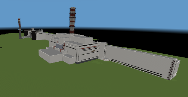 Reactor Units 3 and 4 in front, 1 and 2 in the background