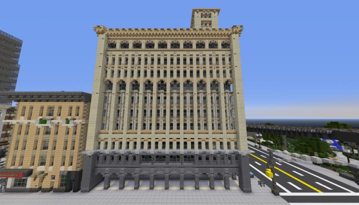 the Auditorium Building Replica Chicago Built On
