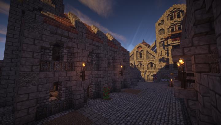Way to the main courtyard