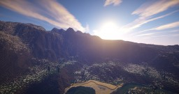 Mountain Valley, a WorldPainter landscape Minecraft Map & Project