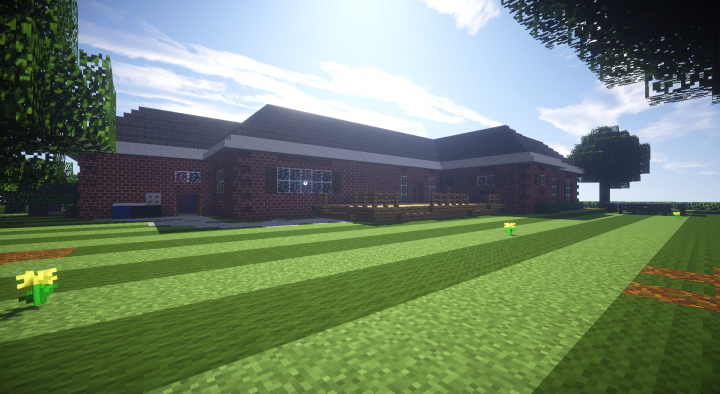 Brick Suburban House Minecraft Project