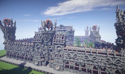 Epic Evil Themed Medieval Faction Spawn Minecraft Map & Project
