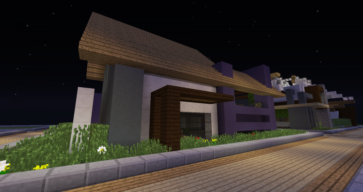 Modern house with balcony minecraft project for Modern house projects