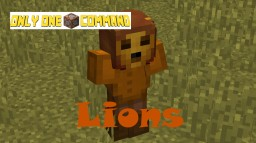 Lions - Only One Command Minecraft Map & Project