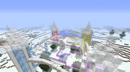 Stained Glass and Quartz Ice Biome Castle Minecraft Map & Project