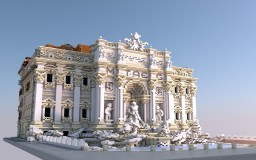 Fountain Di Trevi and dell'Aqua Paola [Aliquam] Minecraft Project