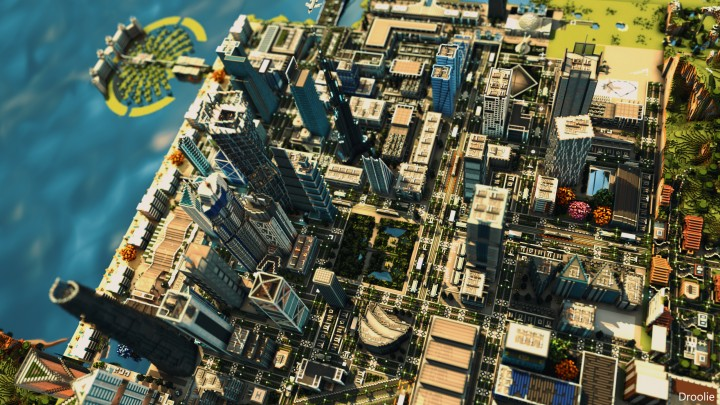 Overview of the city - Rendered by droolie