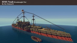 HMS Noah Dreadnought Tier Minecraft Map & Project
