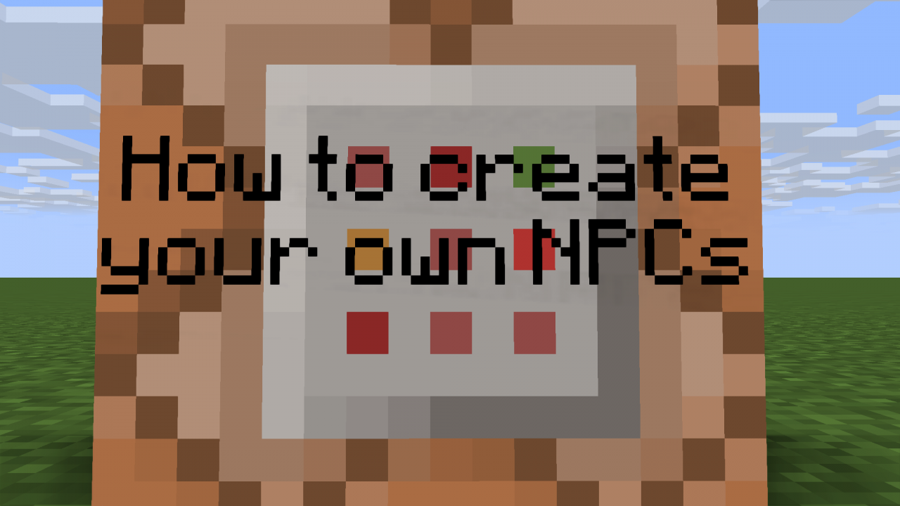 How to create custom npcs in vanilla 1 9 minecraft blog for How to build a blog