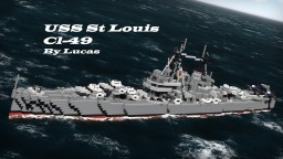 USS St. Louis CL-49 1:1 -  by Lucas - ShipSide Minecraft Map & Project