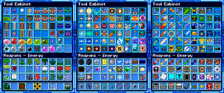 Every single item has been retextured too and many items feature animations not originating from any game!
