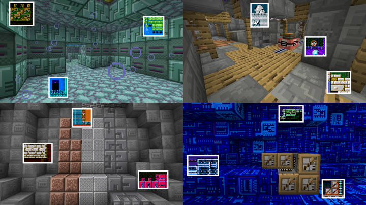 Check out where some of this resource packs textures came from. A lot of recoloring and editing was involved. This was not a lazy copy-and-paste job.