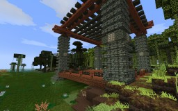 Rustic Tuscany Pavilion Minecraft Project