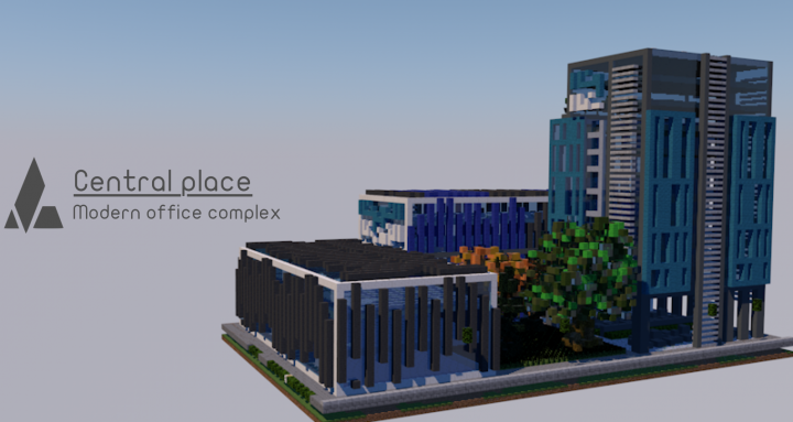 Central Place Modern Office Complex Minecraft Project