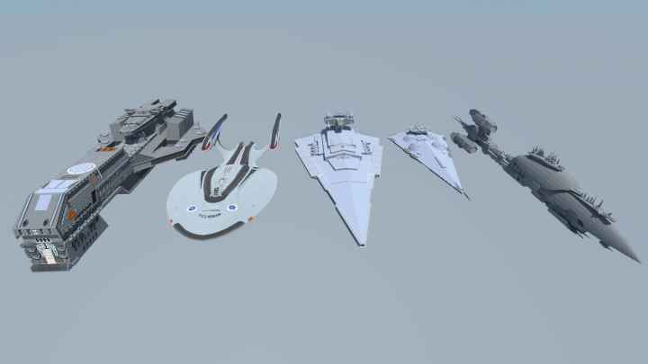 Size comparison of all my capital ships
