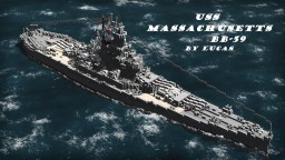 USS Massachusetts ( BB-59 ) South Dakota class 1:1 - By Lucas - ShipSide Minecraft Map & Project