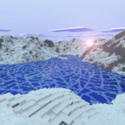Ice Pattern Mountains Minecraft Map & Project