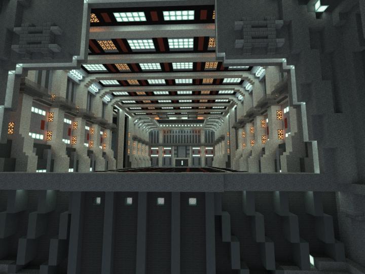 Inside the hangar