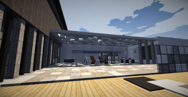 Villa ultra moderne 1 minecraft project for Villa ultra moderne