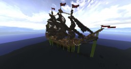 Medieval Themed BattleShip/Pirate Battleships Minecraft Map & Project