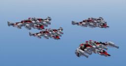 """WWW-132 """"Wide """"W"""" Wing"""" Heavy Fighter Minecraft Project"""
