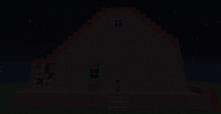 Starter house at night