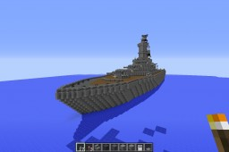 BBN-65 Modern Battleship! Minecraft Map & Project