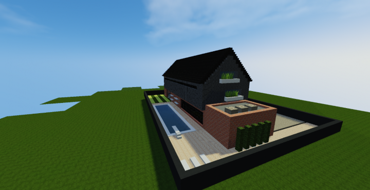 Maison moderne industriel 1 minecraft project - Maison modern minecraft ...