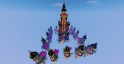 Minecraft Skywars Map:  End Castle Minecraft Map & Project